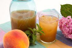Peach + Mint Sweet Tea Recipe | Sallie's Greatest on Taigan