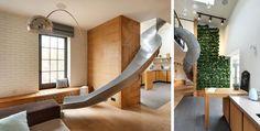 Umgebaute Wohnung: Rutsche im Apartment