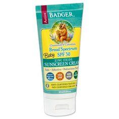 Badger® Baby 2.9 oz. Broad Spectrum Zinc Oxide Sunscreen Cream SPF 30 - www.buybuyBaby.com