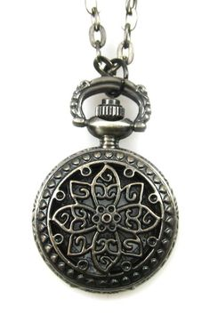 Lotus Flower Pocket Watch Necklace...i love pocket watches. Reminds me of a simple time and that time is priceless