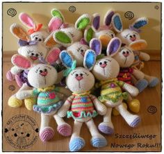 bunnies in the colors of spring!