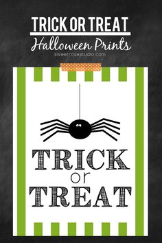 Super adorable FREE Halloween prints from Sweet Rose Studio -- Perfect for home decor and party decorations!