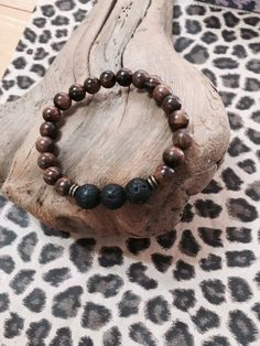Lava Bead Essential Oil Diffuser Bracelet with by JewelrybyJAM