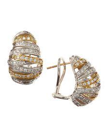 Diamond Oval Earrings