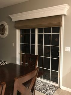 Roller Shade On A Patio Door In 2019 Sliding Door