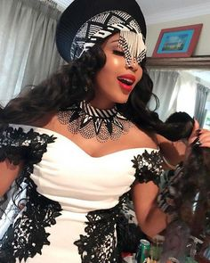 Isibaya actress, Linda Mtoba recently wed her long time beau, Steven Meyer. Take a look inside the gorgeous traditional wedding. Zulu Traditional Wedding Dresses, Zulu Traditional Attire, South African Traditional Dresses, Traditional Ideas, Traditional Weddings, Wedding Dresses South Africa, African Wedding Attire, African Attire, African Wear