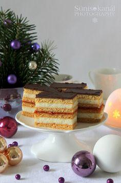 Hungarian Recipes, Custard, No Bake Cake, Cake Cookies, Vanilla Cake, Tiramisu, Gingerbread, Deserts, Food And Drink