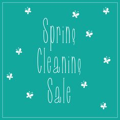 Come in today to help us with some spring cleaning! #SpringCleaning #Sale #GracieGene's