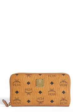 MCM 'Heritage - Large' Coated Canvas Zip Wallet | Nordstrom
