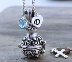 Men Women Leather Titanium Steel Urn Pendant Ash Holder Mini Keepsake Necklace