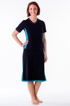 Running in a skirt? Why not? Check out our versatile swim to gym skirts including this awesome Aqua Adventure Border Skirt!