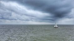 Dark clouds for a fast boat.