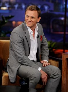 Daniel Craig. There are so many serious pictures of him, I love when they catch a smile.