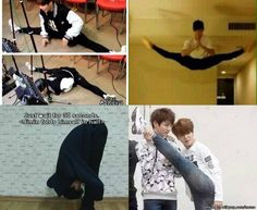 but can we all take a moment to talk about how flexible park jimin is because damn  | allkpop Meme Center