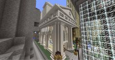 World of Raar, a Minecraft server Minecraft building ideas and structures Train Station in Imperial City