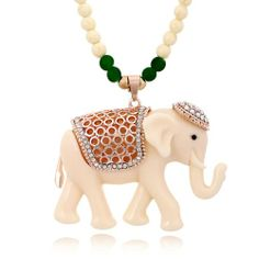 Cute Elephant Beads Sweater Necklace for only $12.90 ,cheap Fashion Necklaces - Jewelry&Accessories online shopping,The Cute Elephant Beads Sweater Necklace is a perfect gift for her.Choose one of elephant which belong to you!