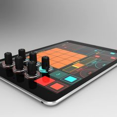Attachable knobs for iPads are music to bedroom DJs' ears (Wired UK) Tech Gadgets, Cool Gadgets, Music Gadgets, Synthesizer Music, Module Design, Radios, Dj Setup, Recording Studio Design, Custom Pc