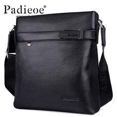 man eye candy Padieoe 2017 Hot Sale Top Quality Genuine Cow Leather Shoulder Bag Fashion Durable Business Man Shoulder Bag Luxury Male Handbag * Click the image to find out more on AliExpress website