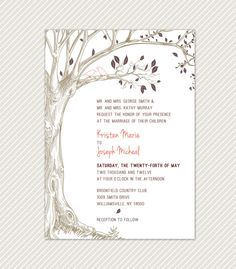 DIY Printable Tree with Love Birds Wedding by OliveYouDesign, $35.00