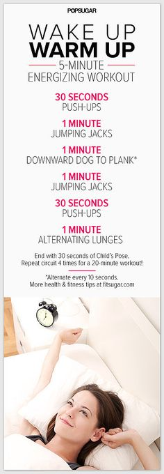 Wake Up Workout On Pinterest Morning Workouts Exercise