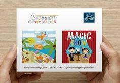 Postcard promo for Judy Sanqunetti Design