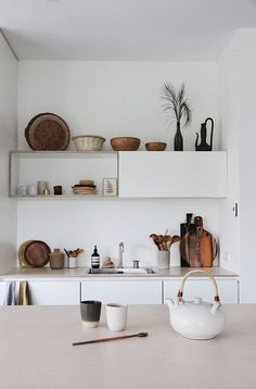Small curated kitchen.