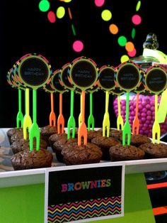 Neon / Glow in the Dark Birthday Party Ideas | Photo 2 of 19 | Catch My Party