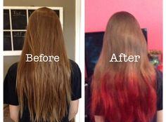 My kool aid hair