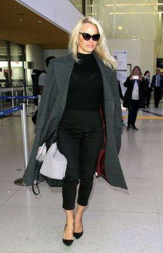 Pamela Anderson At Los Angeles International Airport - January 18, 2017