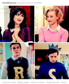 Riverdale cast wearing original outfits from Archie comics :D