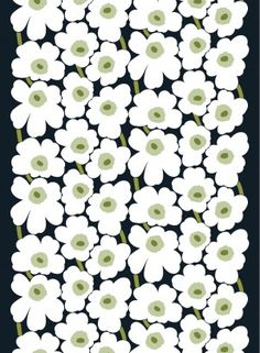 Pieni Unikko 2 coated cotton fabric