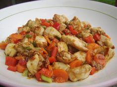 Kung Pao Chicken http://chinese.food.com/recipe/kung-pao-chicken-294725