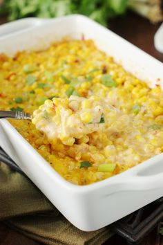 Fiesta Cheddar Corn Casserole on MyRecipeMagic.com