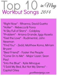 Top 10 Workout Songs for Summer 2014