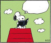 Clip Art: Snoopy reading