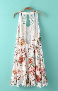 Back Hollow-out Floral top