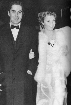 Tyrone Power and wife Annabella
