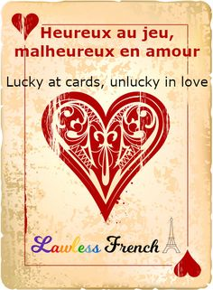 The idea that you only get so much luck in life is the central tenet of this idiom. But not every French expression limits its good fortune. Read this lesson to discover alternate idioms that focus only on the positive, albeit using questionable imagery. French Expressions, French Teacher, French Class, Idiomatic Expressions, French People, Teacher Boards, Idioms, Learn French, French Language