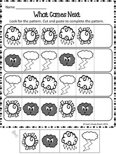 Weather Patterns, teaches the students patterns Kindergarten Science, Kindergarten Worksheets, Preschool Activities, Science Classroom, Weather Lesson Plans, Weather Lessons, Teaching Weather, Preschool Weather, Weather Kindergarten