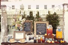pancake bar - great idea for a morning baby shower!