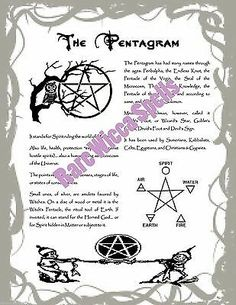 Pentagram Pentacle Real Wicca Book of Shadows Pages Pagan Witchcraft 1 Parch pg Hoodoo Spells, Pagan Witchcraft, Magick, Holy Water Recipe, Dream Spell, Banishing Spell, Wiccan Books, Healing Spells, Printed Pages