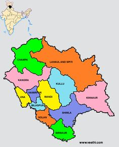 Himachal Pradesh Districts Map