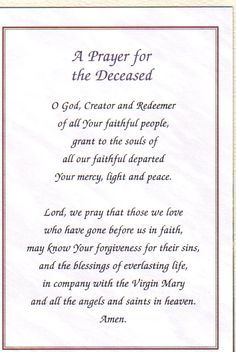 prayer for the dead catholic - Google Search
