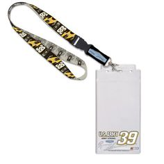 """NASCAR Ryan Newman Credential Holder Lanyard by WinCraft. $10.95. Ryan Newman Credential Holder LanyardOfficially licensed NASCAR productPlastic sleeve measures 8.5"""" x 4.25""""Screen print graphicsImportedLobster claw clipHangs 20"""" in length (including keyring)Woven graphicsHangs 20"""" in length (including keyring)Woven graphicsPlastic sleeve measures 8.5"""" x 4.25""""Screen print graphicsLobster claw clipImportedOfficially licensed NASCAR product"""