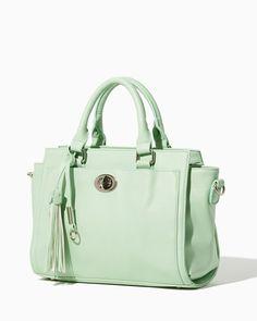 Tasseled Turnlock Satchel   Fashion Handbags   charming charlie