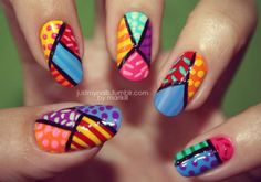 Romero Britto nails!
