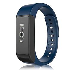TINCINT 40 Bluetooth Waterproof I5 Plus Smart Wristband Fitness Tracker for Android and iOS  Blue >>> Be sure to check out this awesome product.