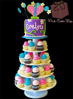 I love cupcake cakes they are easier to pass out at the birthday parties..