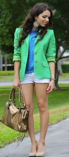 love the fun color blazer. I need to be more adventurous when it comes to putting colors together