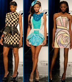 'Candy Couture' on Project Runway. The dress on the far right is amazing!